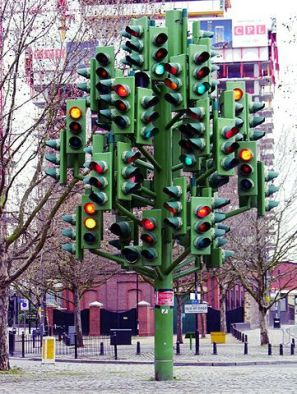 many stoplights